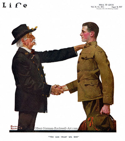 1917-08-09-Life-Norman-Rockwell-cover-You-Can-Trust-Me-Dad-400